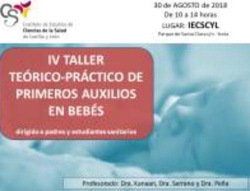 IV Taller Teórico-Práctico de Primeros Auxilios en Bebés