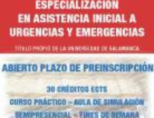 Diploma de Especialización en asistencia inicial a urgencias y emergencias (Semi-presencial) 21ª Promoción.