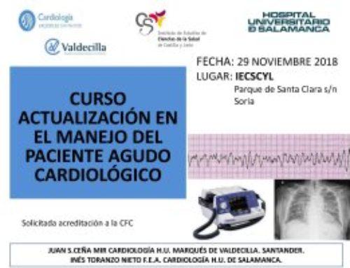 Curso Actualización en el Manejo del Paciente Agudo Cardiológico. Segunda Edición.