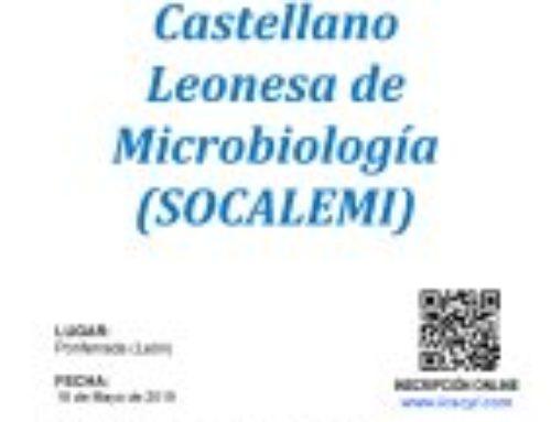 XXXIX Reunión de la Sociedad Castellano Leonesa de Microbiología – Curso de Microbiología 2019.