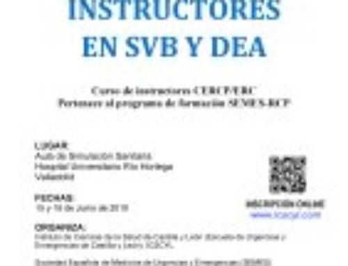 Curso de Instructores en Soporte Vital Básico (SVB) y Desfibrilador Externo (DEA)