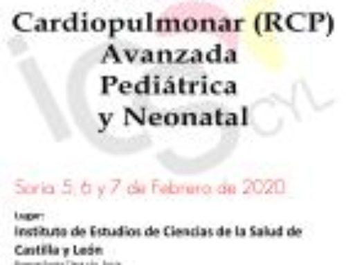 V Curso de Reanimación Cardiopulmonar (RCP) Avanzada Pediátrica y Neonatal