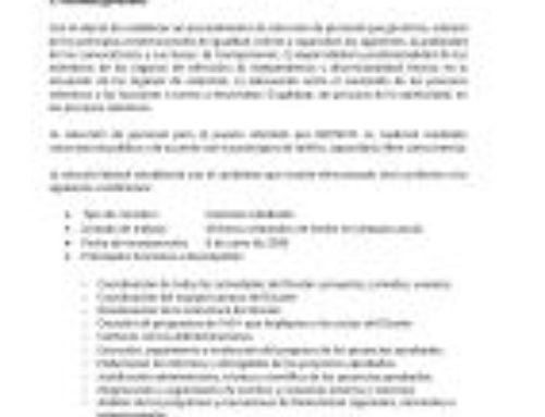 Oferta de empleo BIOTECYL: Selección de Cluster Manager