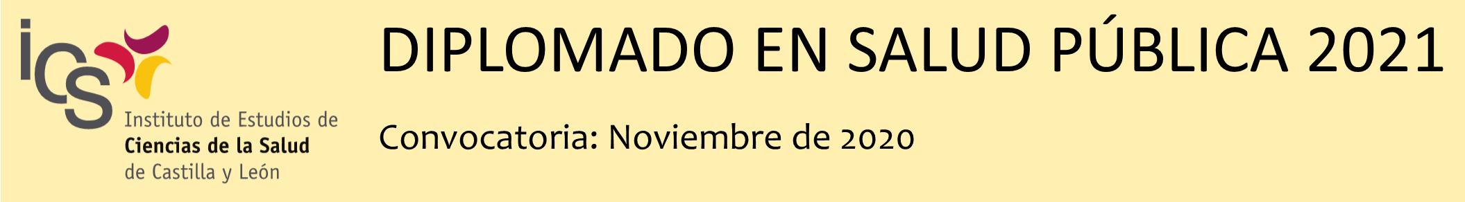 Diplomado en Salud Pública 2021: Convocatoria noviembre de 2020