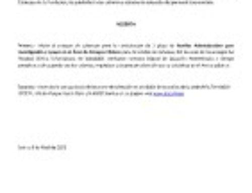 Proceso de Selección Auxiliar Administrativo para Investigación y apoyo en el Área de Ensayos Clínicos para la Unidad de Cefaleas