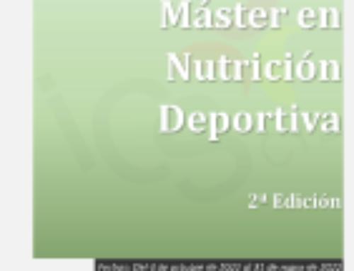 Máster en Nutrición Deportiva. 2ª Edición