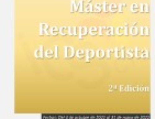 Máster en Recuperación del Deportista. 2ª Edición