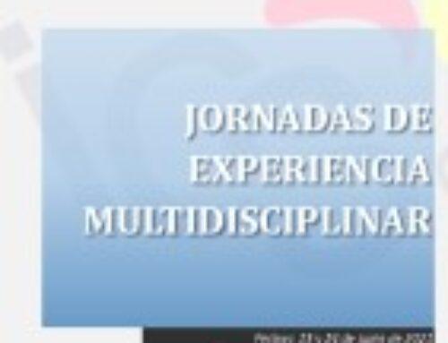 JORNADAS DE EXPERIENCIA MULTIDISCIPLINAR