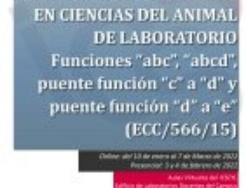 XX Curso de Capacitación para Experimentadores en Ciencias del Animal Laboratorio. Funciones ABCD y E